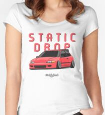 Static Drop Civic EG (pink) Women's Fitted Scoop T-Shirt
