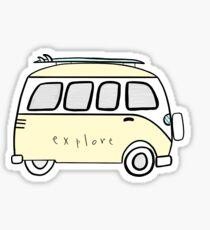 gelb erkunden volkswagon Sticker