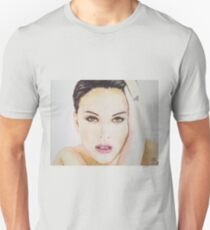 Natalie Portman, Pastels Portrait, by James Patrick Unisex T-Shirt