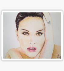 Natalie Portman, Pastels Portrait, by James Patrick Sticker