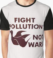 """Fight Pollution Not Wars"" hand bill, University of California, Berkeley, 1972 Graphic T-Shirt"
