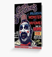 Captain Spaulding's Museum of Monsters and Madmen Greeting Card