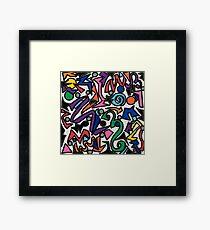 Libmandy Art: 80s Celebration Framed Print