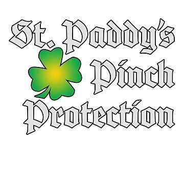 Saint Patricks Day Pinch Protection T-shirt by jGoDesigns