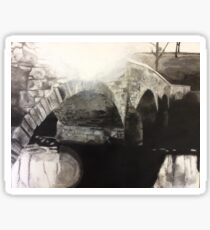 Antietam Bridge Charcoal Drawing Sticker