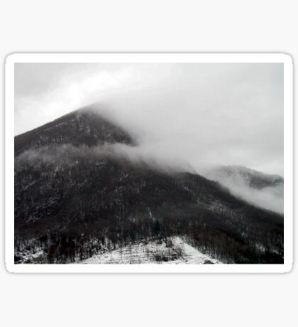 Foggy mountains Sticker