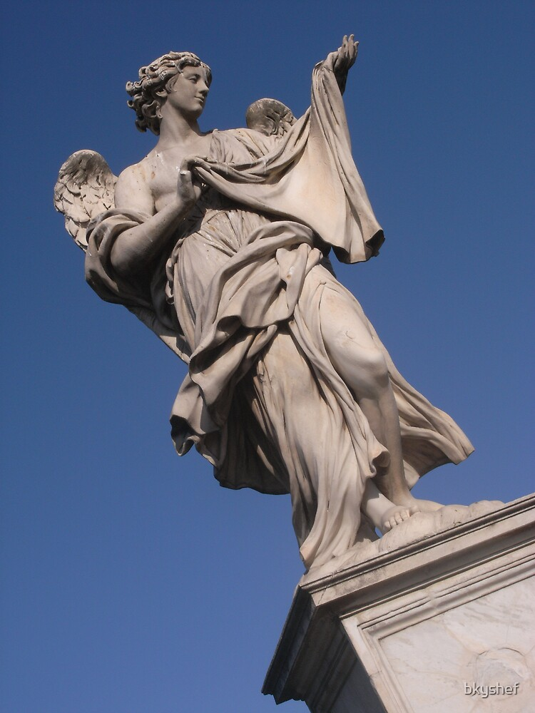 angel holding cloth at Ponte Sant'Angelo  by bkyshef