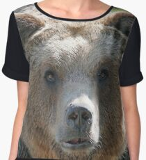 Bear, bear's face, forest bear, terrible bear, bear-to-beard Chiffon Top