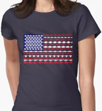 United States of America Fish Flag Women's Fitted T-Shirt