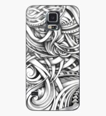 Escher Like Abstract Hand Drawn Graphite Gray Depth Case/Skin for Samsung Galaxy