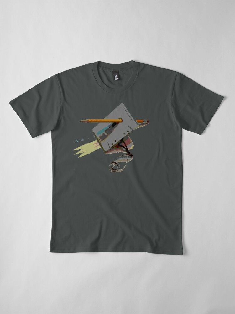 Alternate view of tape and pencil loose tape  Premium T-Shirt