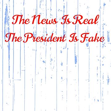The News Is Real The President Is Fake by MoeDeesDotCom