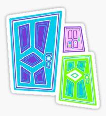PICK A DOOR! Sticker