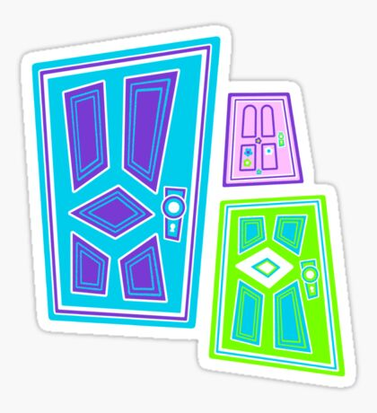 PICK A DOOR! Sticker