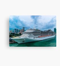 Docked and loading Canvas Print
