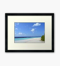 Island in the Maldives with beautiful turquoise water Framed Print