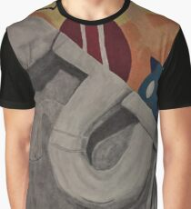 Contrast Between Color and Black and White Graphic T-Shirt