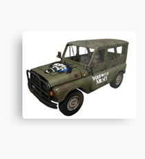 Direwolf Army UAZ from PlayerUnknown's Battlegrounds! Metal Print