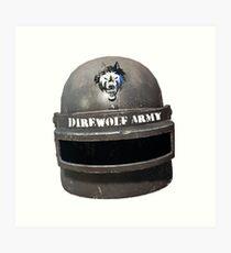 Level 3 Direwolf Army Helmet Art Print