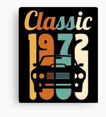 1972 Vintage 46th Birthday Gift 46 Years Old Canvas Print