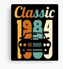 1984 Vintage 34th Birthday Gift 34 Years Old Canvas Print