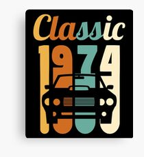 1974 Vintage 44th Birthday Gift 44 Years Old Canvas Print