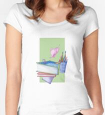 Diving Elephant T-shirt Women's Fitted Scoop T-Shirt