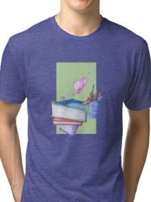 Diving Elephant T-shirt Tri-blend T-Shirt