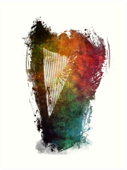 Harp colored instrumental music by JBJart