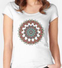 Mandala Christmas Pug Women's Fitted Scoop T-Shirt