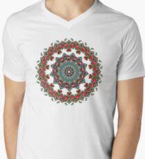 Mandala Christmas Pug Men's V-Neck T-Shirt