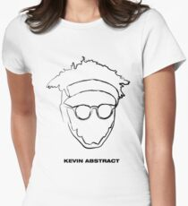 Kevin Abstract - Simple Women's Fitted T-Shirt