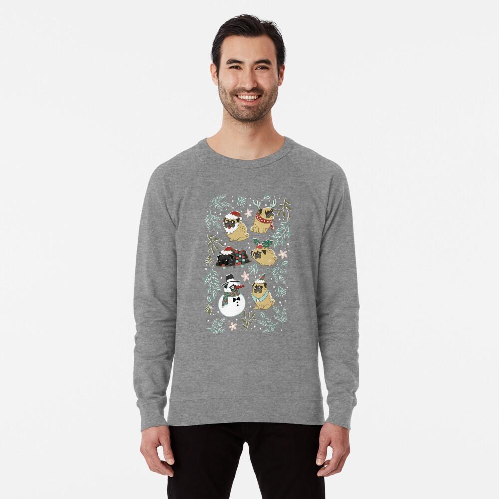 Weihnachtspugs Leichter Pullover