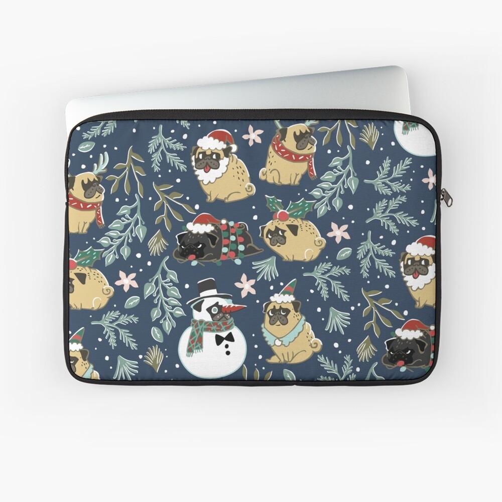Weihnachtspugs Laptoptasche