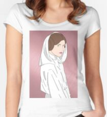 Princess Leia (Rose Gold) Women's Fitted Scoop T-Shirt