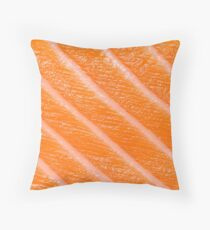 Salmon Sushi / Sashimi Throw Pillow