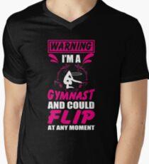Cool Costume For Gymnast Lover. T-Shirt For Girls From Mom. Men's V-Neck T-Shirt