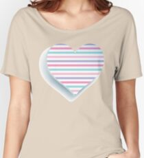 Colorful  Heart Women's Relaxed Fit T-Shirt