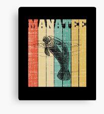 Manatee In Earth Tone Canvas Print