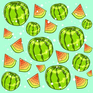 Watermelons and Watermelon slices by FTMLand