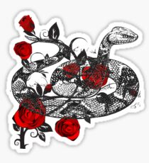 Snake Roses T-Shirt Floral Flower Rose Reptile  Sticker