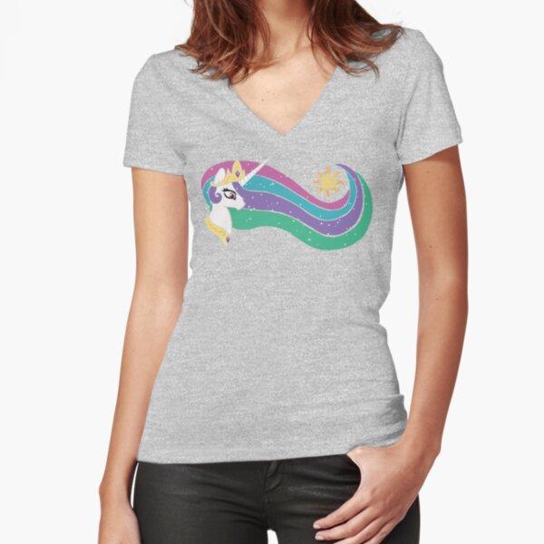 Princess Celestia Fitted V-Neck T-Shirt