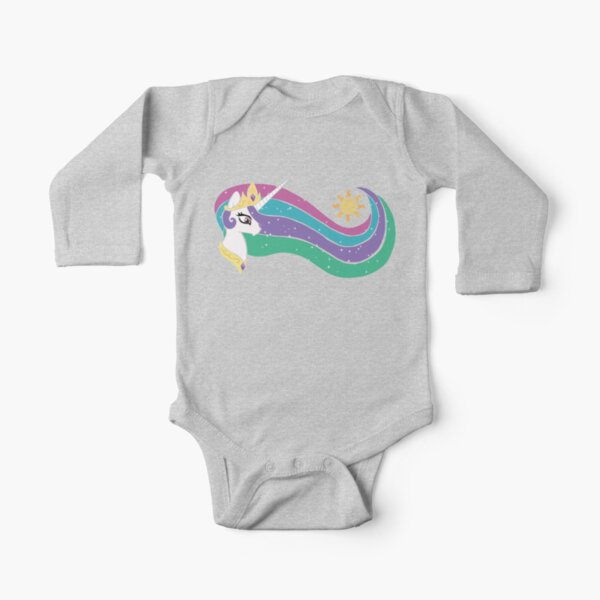 Princess Celestia Long Sleeve Baby One-Piece