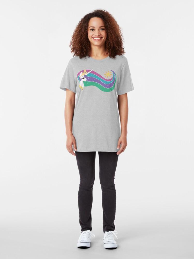Alternate view of Princess Celestia Slim Fit T-Shirt