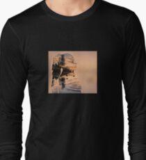 Double exposure photograph effect, woman Long Sleeve T-Shirt