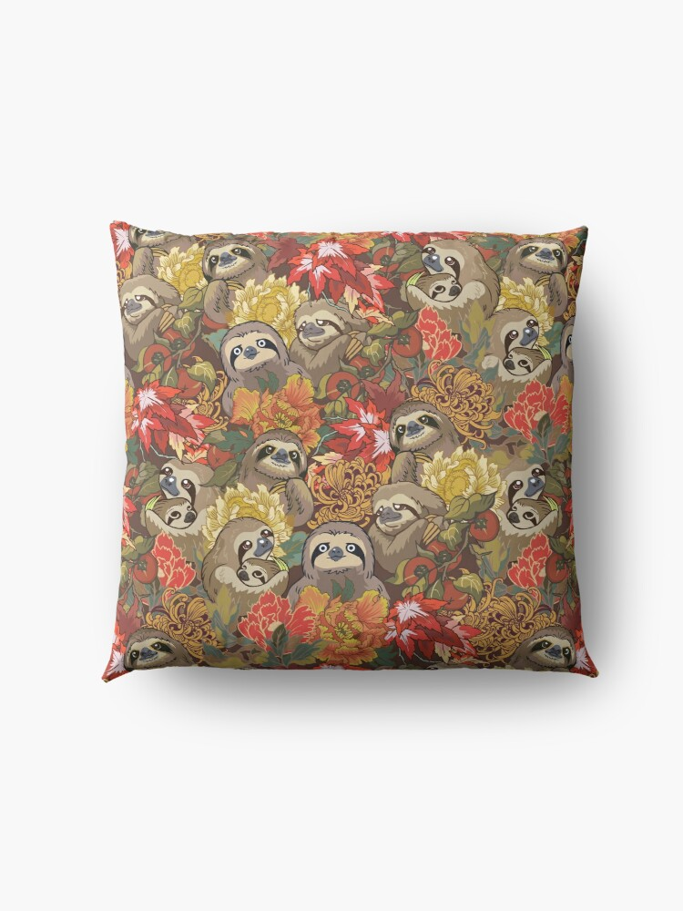 Alternate view of Because Sloths Autumn Floor Pillow