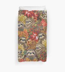 Because Sloths Autumn Duvet Cover