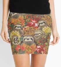Because Sloths Autumn Mini Skirt