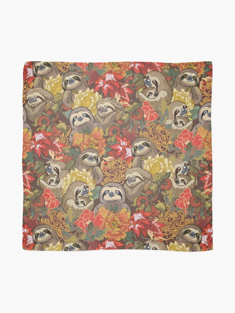 Alternate view of Because Sloths Autumn Scarf
