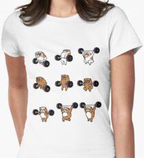 OLYMPIC LIFTING English Bulldog Women's Fitted T-Shirt